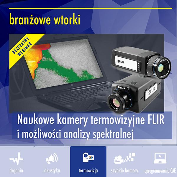 zaproszenie webinar FLIR naukowe2 - Webinar: Naukowe kamery termowizyjne FLIR i możliwości analizy spektralnej